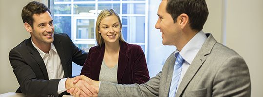 handshake with consultant